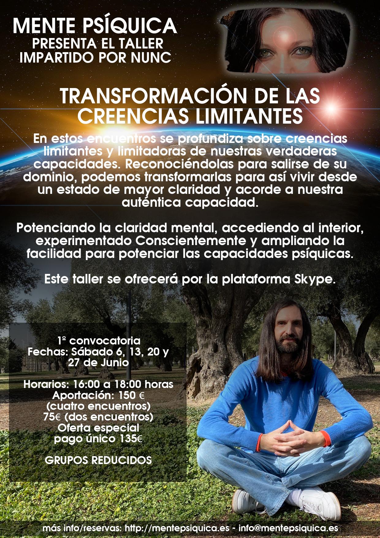 Nunc, orador consciencial, autor de varios libros de Consciencia, cuyo contenido está dotado de vida al ser escritos desde la experiencia, con una energía que ayuda a la transformación del lector.
